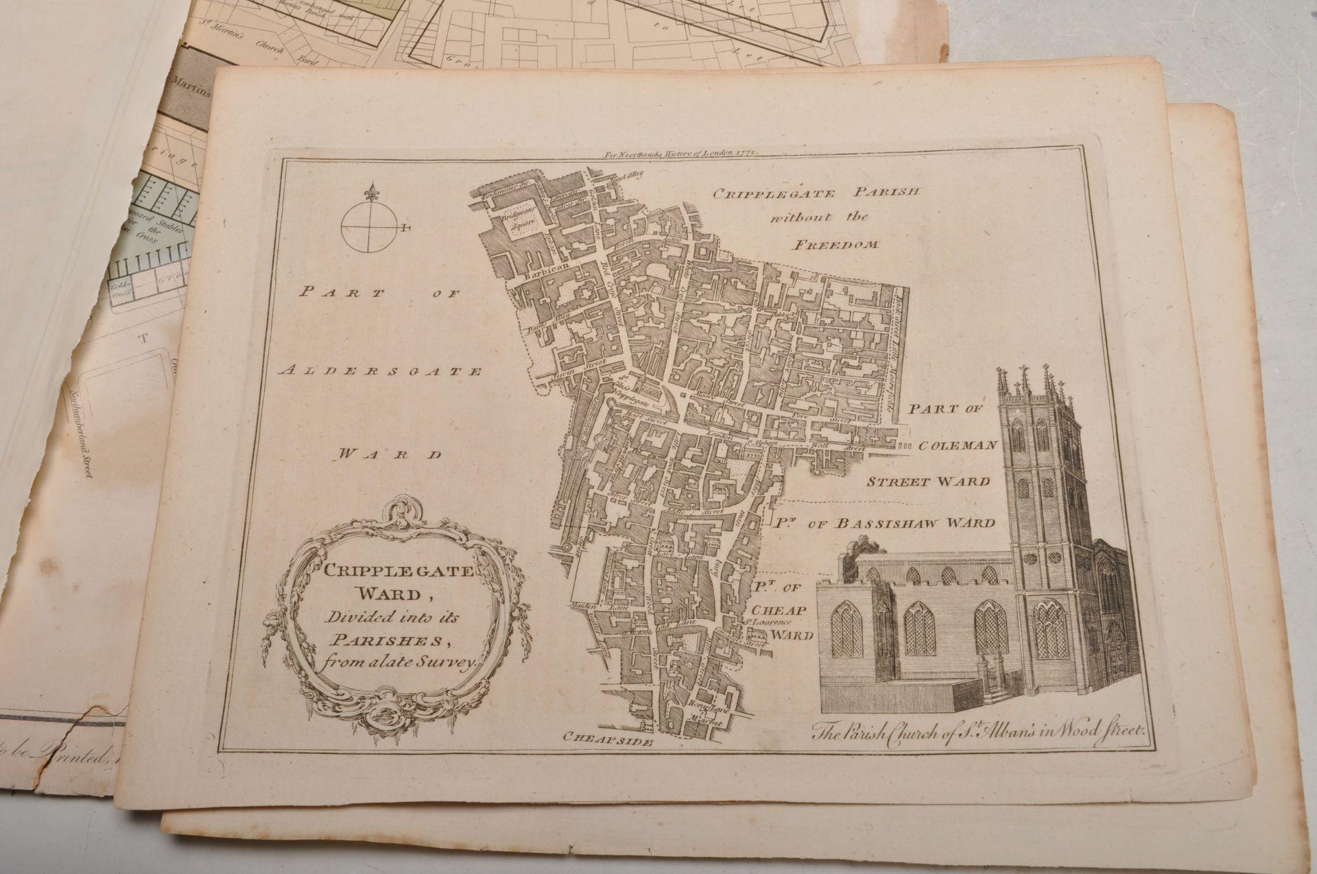 COLLECTION OF ANTIQUE LONDON RELATED MAPS & PLANS - Bild 7 aus 10