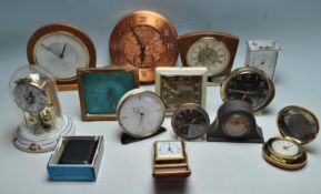 COLLECTION OF RETRO 1960S CLOCKS TO INCLUDE METAMEC, WESTCLOX AND KAISER.