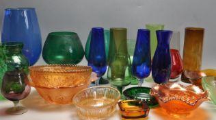 LARGE QUANTITY OF RETRO VINTAGE STUDIO ART GLASS
