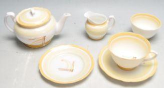 SET OF LAWLEYS OF LONDON 1930'S ART DECO BACHELORS TEA SERVICE