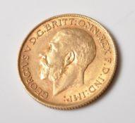 1911 GEORGE V FULL GOLD SOVEREIGN COIN