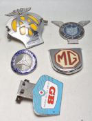 COLLECTION OF FIVE VINTAGE RETRO 20TH CENTURY CAR BADGES