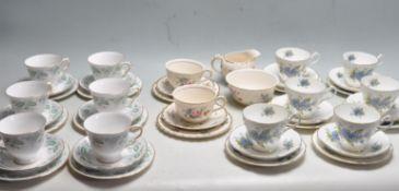 COLLECTION OF THREE ENGLISH BONE TEA SERVICE