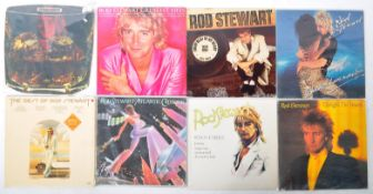 ROD STEWART - A GROUP OF EIGHT VINYL RECORD ALBUMS