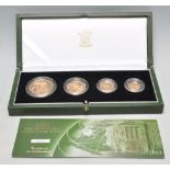 2003 ROYAL MINT GOLD PROOF FOUR COIN SOVEREIGN COLLECTION