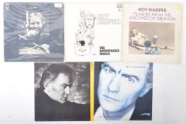 ROY HARPER - GROUP OF FIVE VINYL RECORD ALBUMS