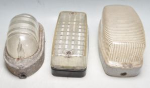COLLECTION OF THREE RETRO VINTAGE INDUSTRIAL BULKHEAD LIGHTS