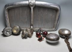 OF AUTOMOBILE INTEREST - VINTAGE 20TH CENTURY CAR PARTS TO INCLUDE MG / MARCHAL ETC.