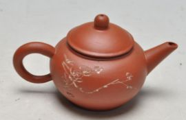 VINTAGE LATE 20TH CENTURY CHINESE YIXING ZISHA RED CLAY POTTERY