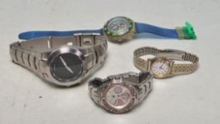 FOUR VINTAGE MIXED WRIST WATCHES INCLUDING SEIKO