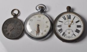 GROUP OF THREE 20TH CENTURY POCKET WATCHES