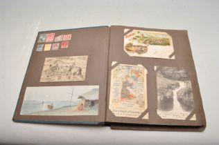 ALBUM OF FOREIGN POSTCARDS - ALL CIRCA WW1 PERIOD