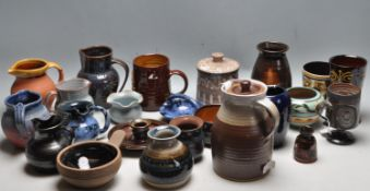 LARGE COLLECTION OF VINTAGE RETRO 20TH CENTURY CORNWALL STUDIO ART POTTERY