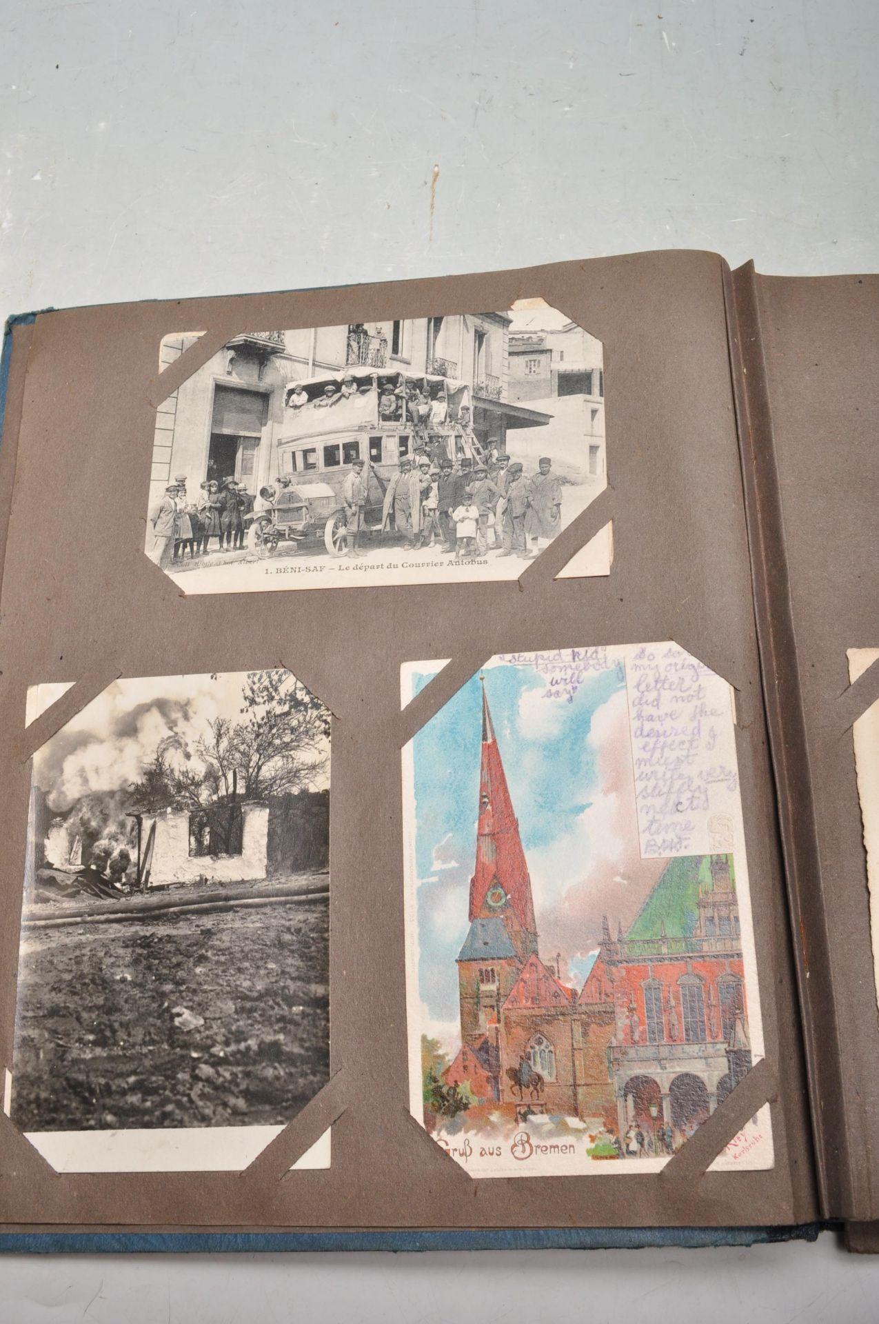 ALBUM OF FOREIGN POSTCARDS - ALL CIRCA WW1 PERIOD - Bild 3 aus 23