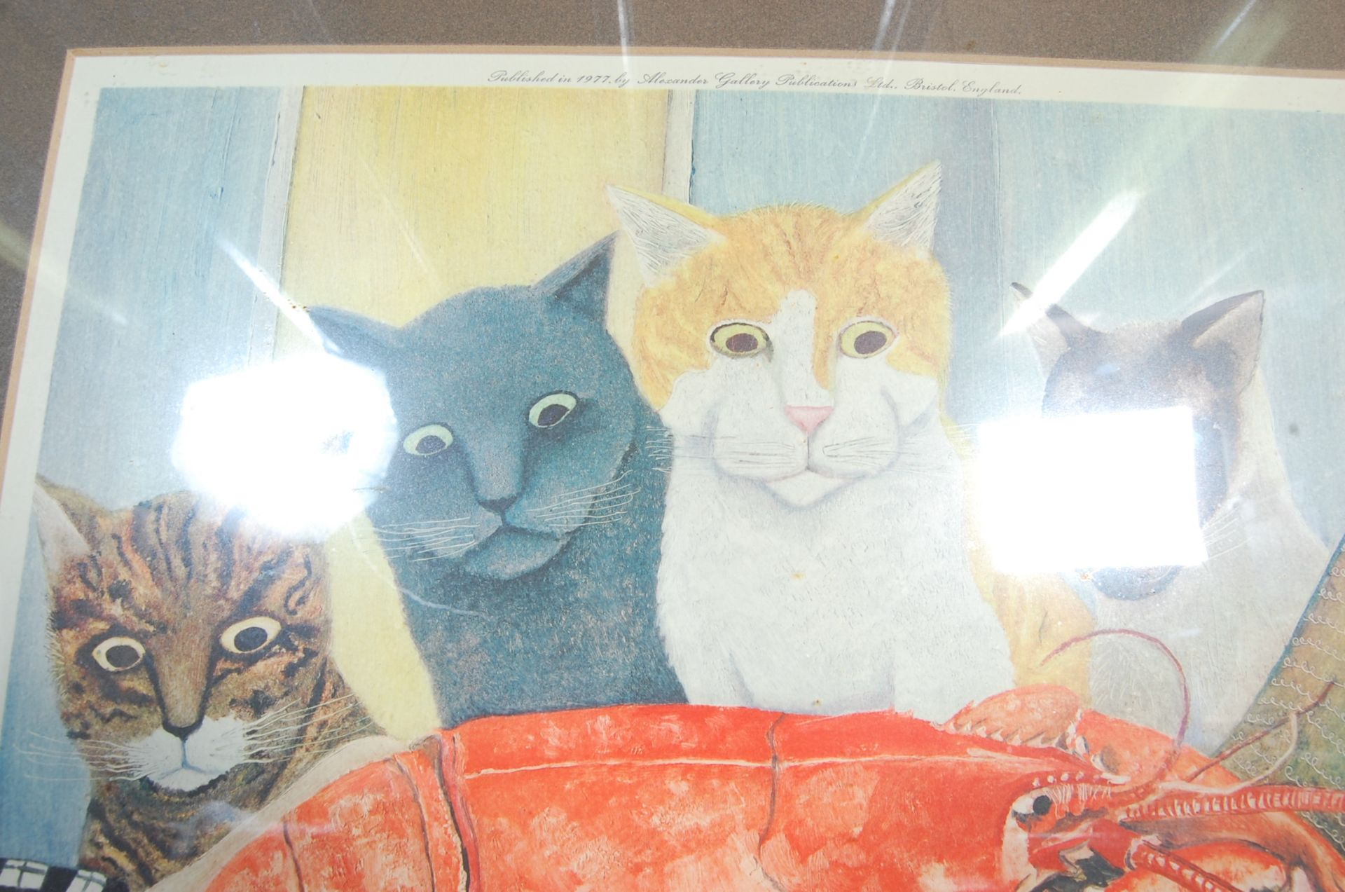 BERYL COOK ' FOUR HUNGRY CATS ' SIGNED LITHOGRAPH PRINT - Bild 5 aus 5