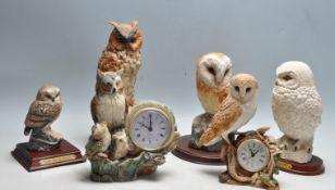GROUP OF LEONARDO CERAMIC OWLS