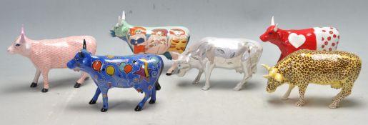 COW PARADE - VINTAGE POLYCROME CERAMIC COW FIGURINES