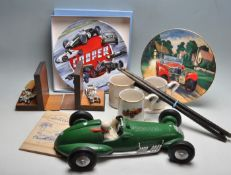 GROUP OF VINTAGE SPORTS CAR RELATED ITEMS