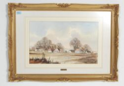 MID CENTURY WATERCOLOUR PAINTING BY ISABEL CASTLE