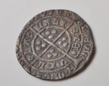 15TH CENTURY HENRY IVI HAMMERED SILVER GROAT COIN