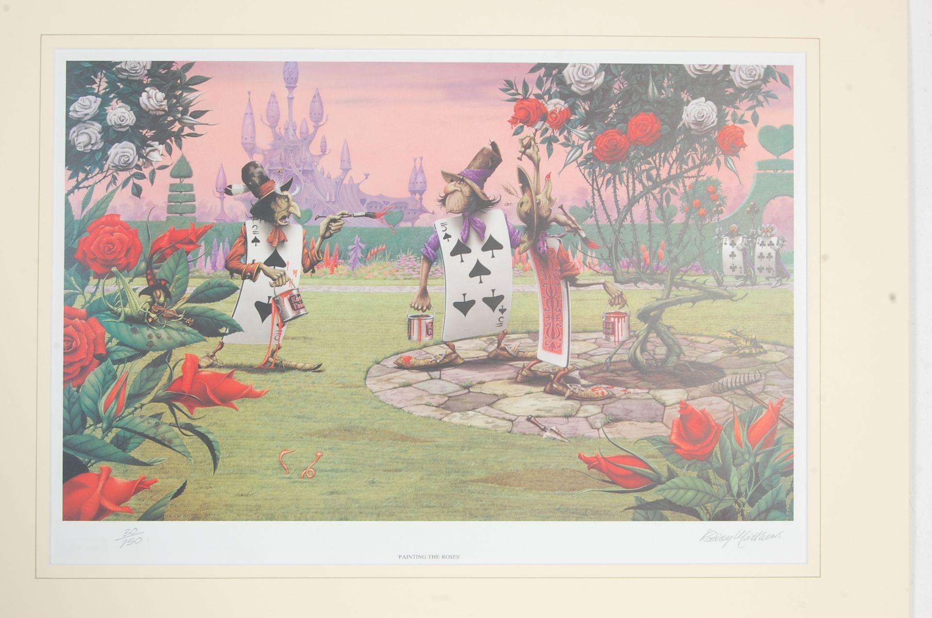AFTER RODNEY MATTHEWS - FOUR LIMITED EDITION ALICE AND WONDERLAND SIGNED - Bild 5 aus 13