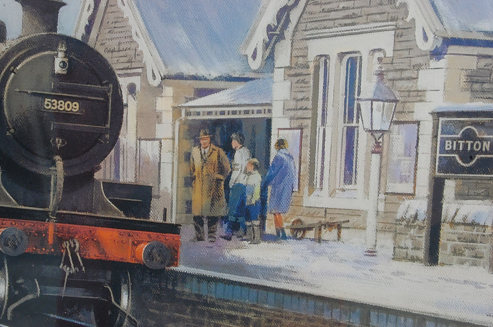RAILWAY INTEREST - STEAMING THROUGH THE SNOW AT BITTON - LTD ED PRINT - Bild 4 aus 9