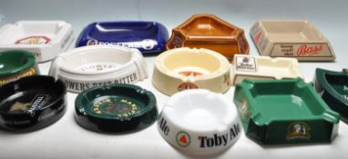 LARGE COLLECTION OF PROMOTIONAL ADVERTISING PUB ASHTRAYS