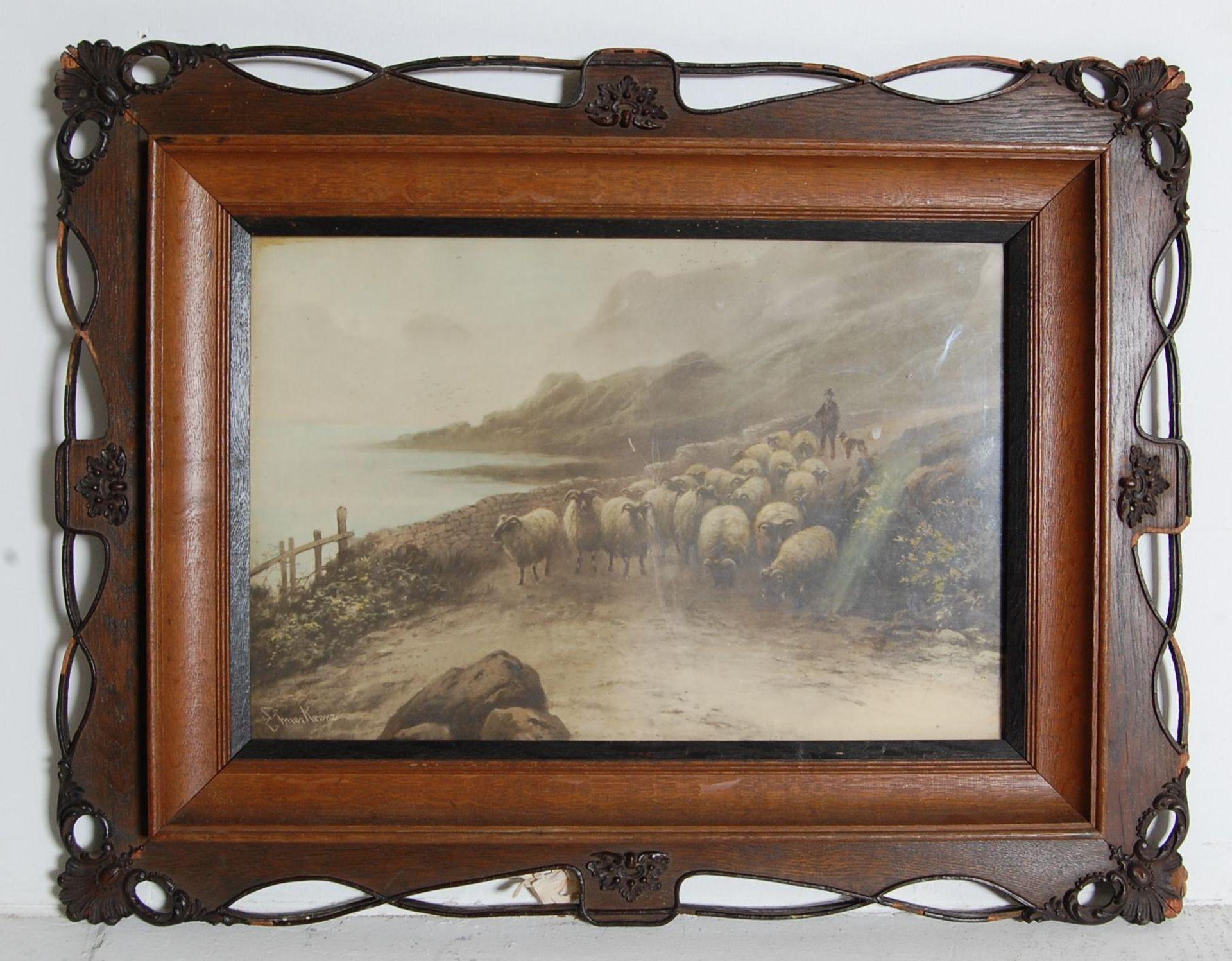 AFTER EZRA ELMER KEENE ( 1853 - 1929 ) A PAIR OF PRINTS / LITHOGRAPHS - Bild 4 aus 7