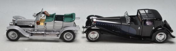 TWO FRANKLIN MINT SCALE MODEL CARS