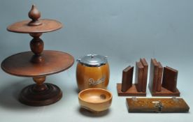 COLLECTION OF 20TH CENTURY WOODEN DECORATIVE ITEMS.