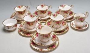 VINTAGE LATE 20TH CENTURY ROYAL ALBERT TEA SERVICE