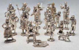 LARGE COLLECTION OF ROYAL HAMPSHIRE ART FOUNDRY PEWTER FIGURINES
