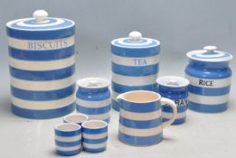COLLECTION OF BLUE AND WHITE KITCHEN CERAMIC WARES BY TG GREEN, GREEN & CO LTD, LEONARDO HOME
