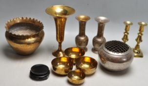 COLLECTION OF 20TH CENTURY INDIAN / PERSIAN BRASS WARE