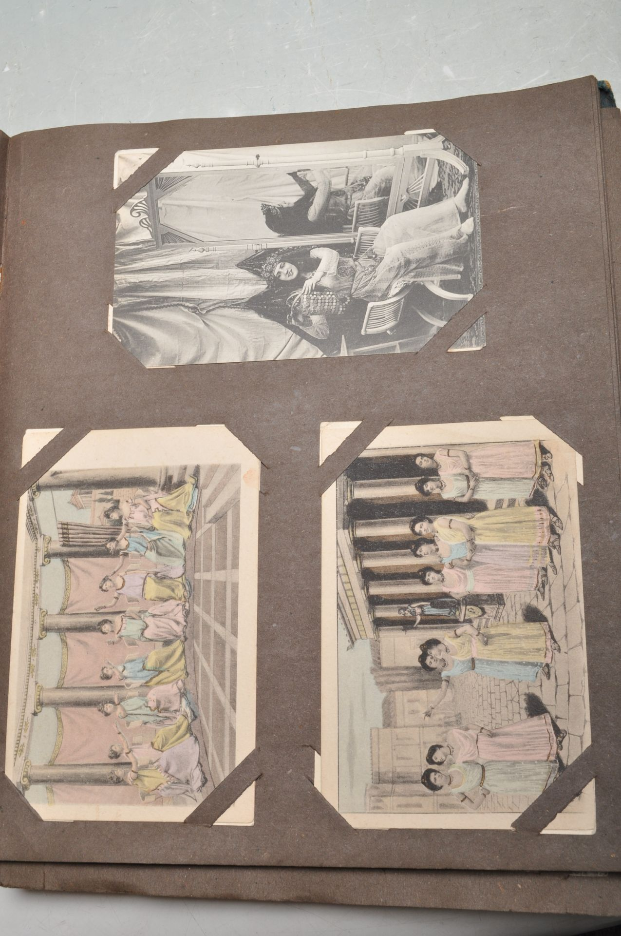 ALBUM OF FOREIGN POSTCARDS - ALL CIRCA WW1 PERIOD - Bild 23 aus 23