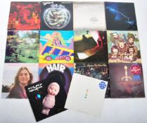 ROCK - MIXED GROUP OF FOURTEEN VINYL RECORD ALBUMS