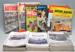 GROUP OF VINTAGE ROLLS ROYCE AND AUTOMOBILIA RELATED MAGAZINES