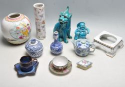 COLLECTION OF EARLY 20TH CENTURY AND LATER CHINESE ORIENTAL CERAMICS