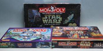 COLLECTION OF THREE CONTEMPORARY MONOPOLY BOARD GAMES