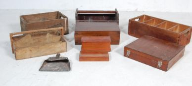 COLLECTION OF VINTAGE WOODEN INDUSTRIAL CRATES