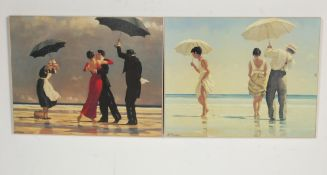 TWO JACK VETTRIANO PRINTS INCLUDING THE SINGING BUTLER