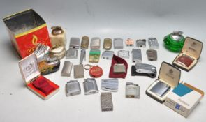 COLLECCTION OF MIXED CIGARETTE AND TABLE LIGHTERS