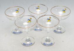VINTAGE RETRO MID CENTURY BABYCHAM GLASSES