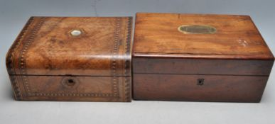 TWO ANTIQUE JEWELLERY BOXES