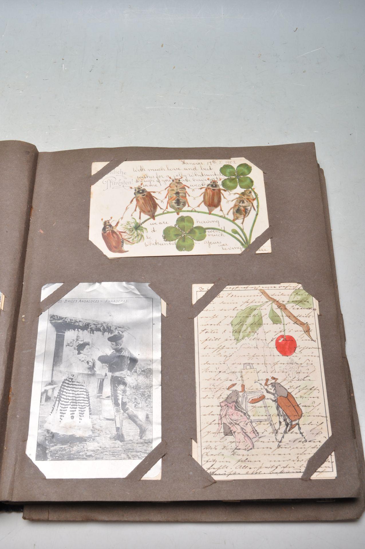 ALBUM OF FOREIGN POSTCARDS - ALL CIRCA WW1 PERIOD - Bild 9 aus 23