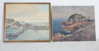 20TH CENTURY CATALONIAN OIL ON CANVAS PAINTING AND ANOTHER