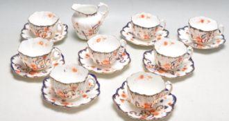 ANTIQUE VICTORIAN PARAGON TEA SERVICE FOR EIGHT