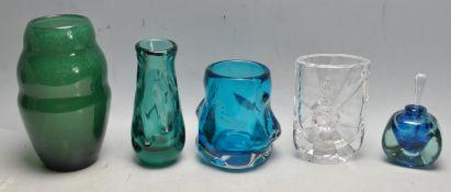 COLLECTION OF RETRO VINTAGE STUDIO ART GLASS