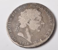 GEORGE III 1818 SILVER CROWN COIN