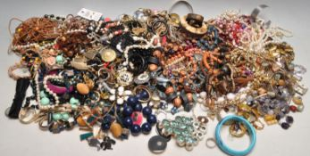 LARGE QUANTITY OF VINTAGE LATE 20TH CENTURY COSTUME JEWELLERY